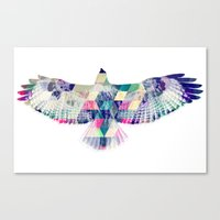 hawk Canvas Prints featuring Hawk by NKlein Design