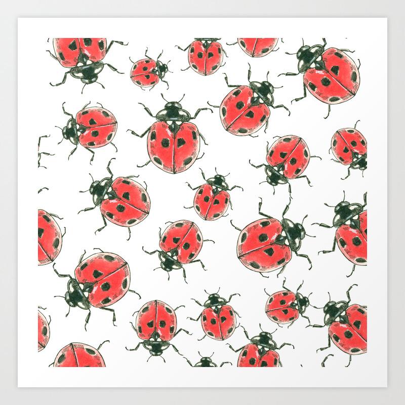 Ladybugs Art Print By Katerinamitkova Society6