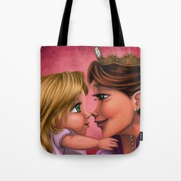 Baby Rapunzel and her Mom Tote Bag