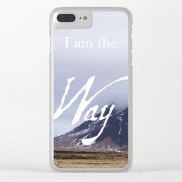 John 14:6 (1 of 3) I Am the Way Inspirational Bible Verse Christian Art Clear iPhone Case
