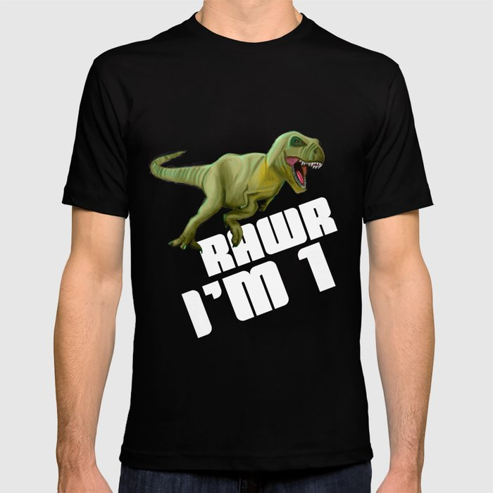 36ac92958 Kids Boys 1st Birthday design Dinosaur T-Rex Tyrannosaurus Rex T-shirt