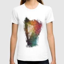 Harp watercolor T-shirt