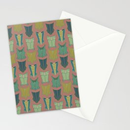 18th Century Corset Stays Illustrated Pattern Print Stationery Cards