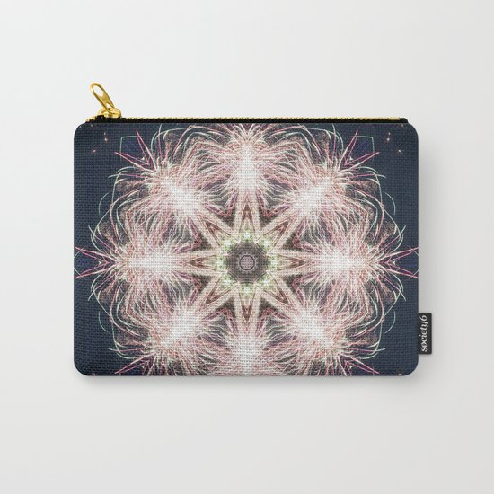 New year colorful sparkly fireworks mandala Carry-All Pouch