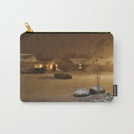 Coastal Winter Snow Storm Carry-All Pouch