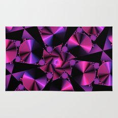 Abstract 344 a berry and black kaleidoscope Rug