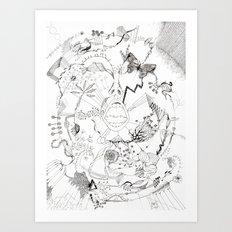 Crazy stuff Art Print