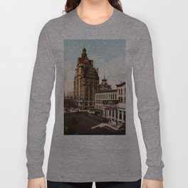 Wisconsin Street in Milwaukee, Wisconsin Long Sleeve T-shirt