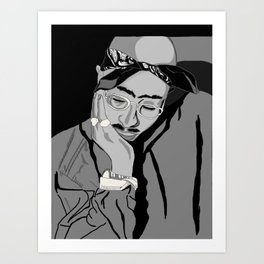 Thug in thought Art Print