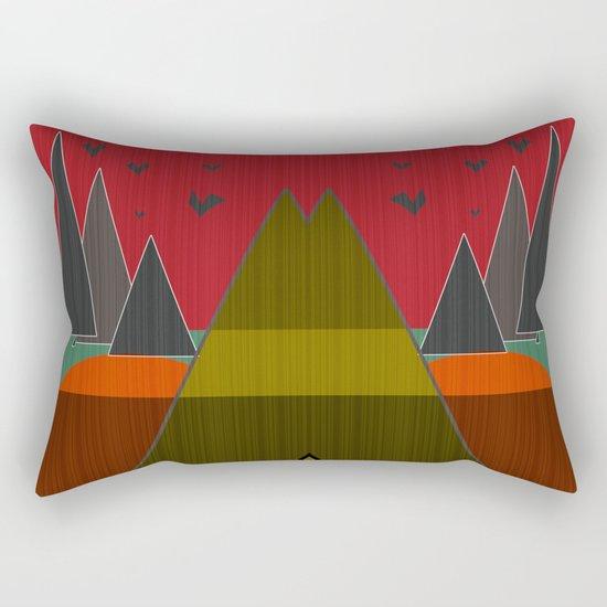 Abstract pattern . Mountains. Rectangular Pillow