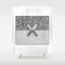 Halves Shower Curtain