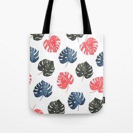 Monstera print pattern, tropical print Tote Bag