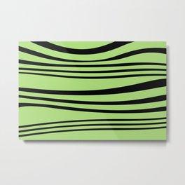 Stripes wave Graphic green Metal Print