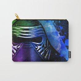 Kylo Ren the Force Awakens Sci-fi Fan Art - Digital Splash Painting Carry-All Pouch