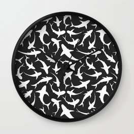 Sharks (inverted) Wall Clock