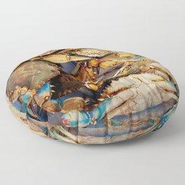 Blue Crabs Floor Pillow