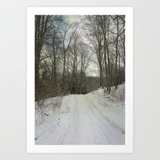 Snow-Covered Forest Art Print