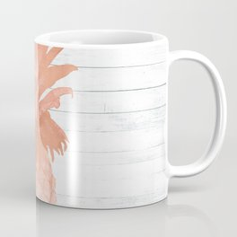 Rose Gold Pineapple on Wood Nautical Decor Coffee Mug