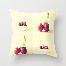 Cherry Kitchen Art  Throw Pillow
