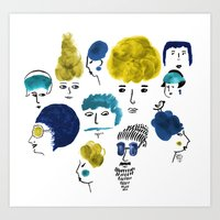 faces Art Prints featuring Faces by Sahily Tallet Yip