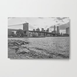 Brooklyn Bridge and One World Trade Center Metal Print