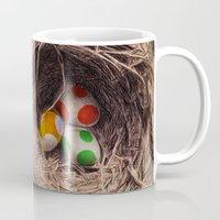 yoshi Mugs featuring Yoshi Eggs by Eric Fan