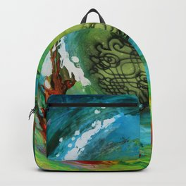 Maelstrom, captivating abstract painting Backpack