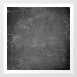 Rustic Chalkboard Background Texture Art Print