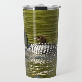 Mother And Her Loon Chick Travel Mug