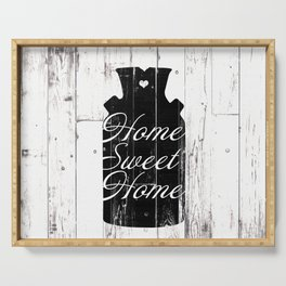 Home Sweet Home Rustic Jug Serving Tray