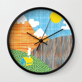 House in the Hills Wall Clock