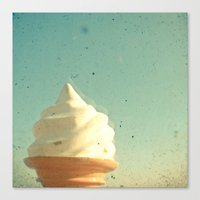 ice cream Canvas Prints featuring Ice Cream by Cassia Beck