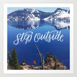 Step Outside Art Print