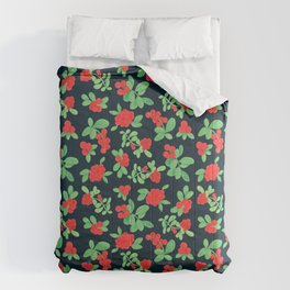 Lingonberry (on Navy) Comforters