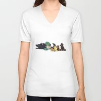 ohana V-neck T-shirts featuring Ohana by Madeoftin