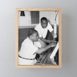 "Antoine ""Fats"" Domino Jr. Society6 Online Soul R&B Vintage Black Music Photography BLM 1ZVV Framed Mini Art Print"