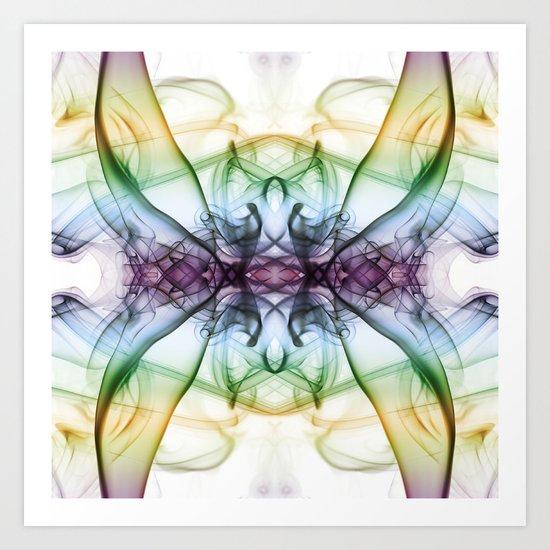 Smokey Butterfly 2 Art Print