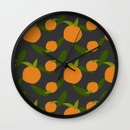 Mangoes in the dark Wall Clock
