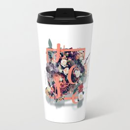 Beautiful and Modern Floral Hope Quote Print Travel Mug