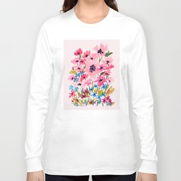 Peachy Wildflowers Long Sleeve T-shirt