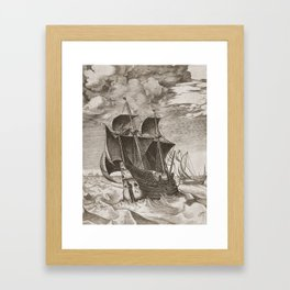 Vintage Ship Art III - Nautical Decor Framed Art Print