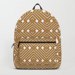 Golden Geometrical Boho Backpack