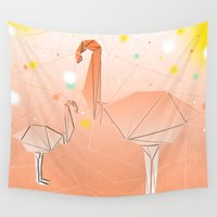 flamingo Wall Tapestries featuring FLAMINGO by ARCHIGRAF