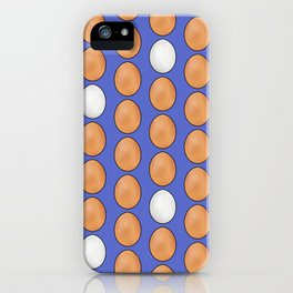 Hard Boiled Bumnuts - Brown Egg stravaganza in Blue iPhone Case