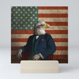 Official Portrait of Senator Silas Eagle Mini Art Print