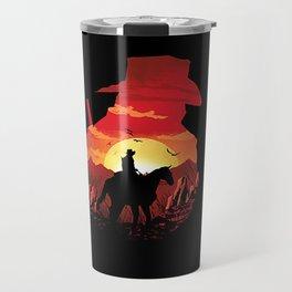 horse sunset Travel Mug