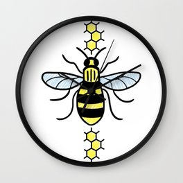 Manchester Bee for Charity Wall Clock