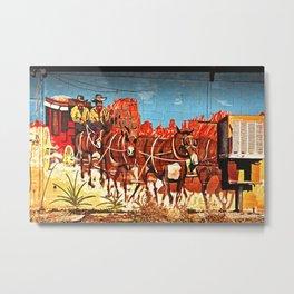 Wild West Mural Metal Print