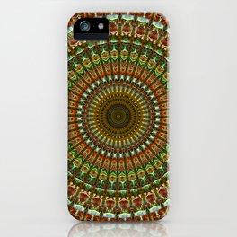 Earthy mandala, iPhone Case