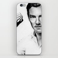 benedict iPhone & iPod Skins featuring Benedict Cumberbatch by Denda Reloaded